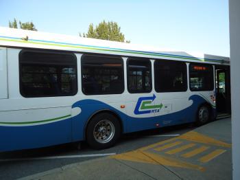 City bus blue white