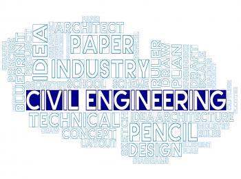 Civil Engineering Indicates Recruitment Worker And Job