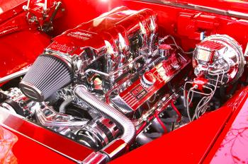 Classic Hot Rod Car Engine
