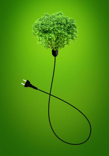 Clean Energy Concept - A Green Power Plug