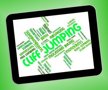 Cliff Jumping Shows High Wordcloud And Words