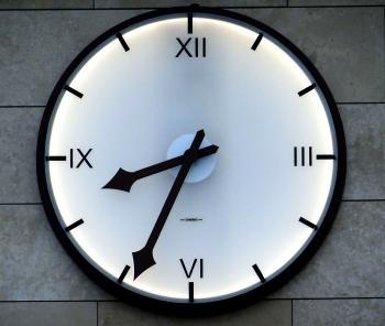Clock at 8:34