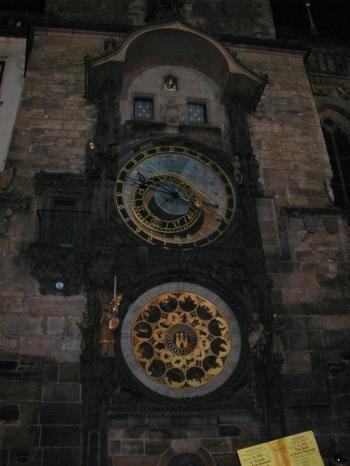 Clock with ornaments