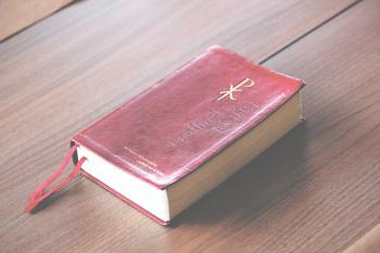 Close-up of A Bible