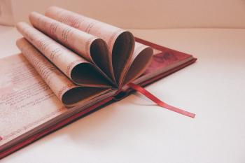 Close-up of a Book over White Background