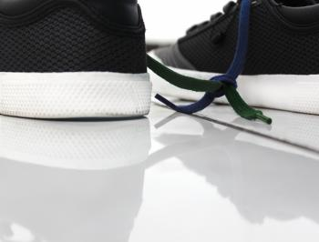Close-up of Shoes Against White Background