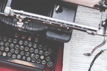 Close-up Photo of Black Typewriter