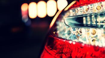 Close Up Photo of Car Tail Light