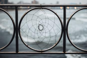 Close-up Photography of Railing