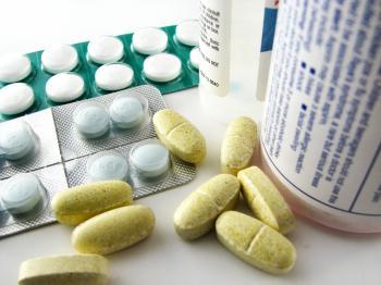 Closeup of pills and medicine
