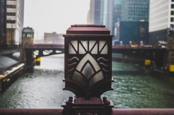 Closeup Photo of Bridge Lamp