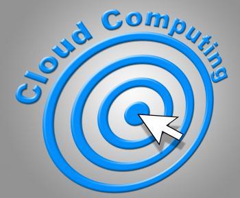 Cloud Computing Represents Network Server And Computer
