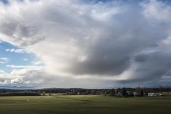 Clouds over Willamette Valley, Oregon