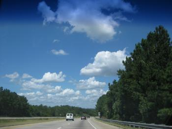 Clouds while driving