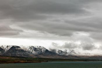 Cloudy Akureyri Mountain Coast