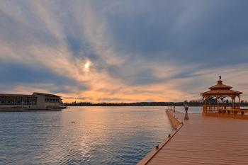 Cloudy Alexandria Bay Sunset - HDR