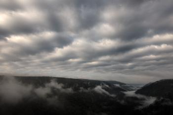 Cloudy Mountain Fog - HDR