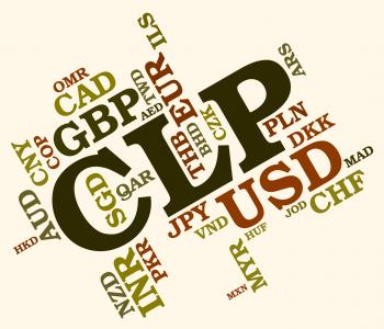 Clp Currency Means Foreign Exchange And Chile
