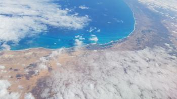 Coast-of-Egypt-from-the-sky-Alexandrie
