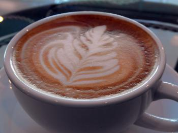 Coffee Art Leaf Design