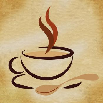 Coffee Beverage Means Restaurant Cafeteria And Caffeine