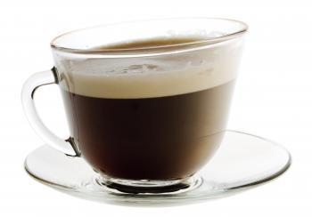 Coffee on white