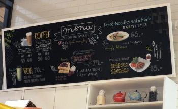 Coffee Shop Blackboard Menu
