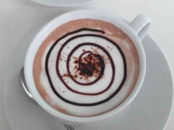 Coffee Spiral Art