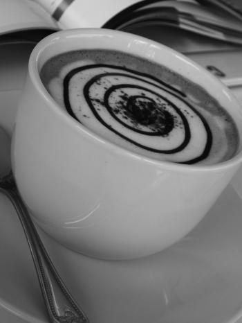 Coffee Spiral Art Black and White