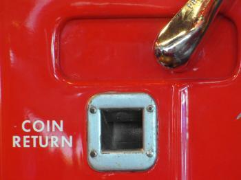 Coin Return Red Vending Machine