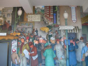 Coit Mural Newsstand