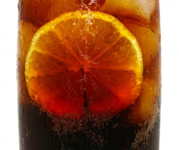 Cold Drink Of Cola With Lemon