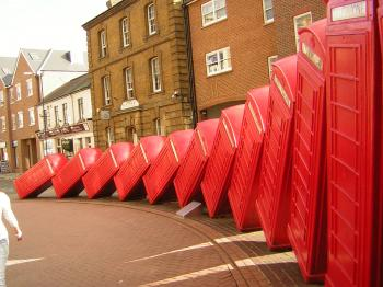 Collapsing Telephone Boxes