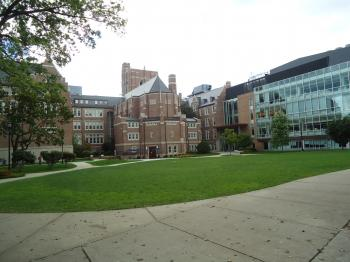 College campus quad