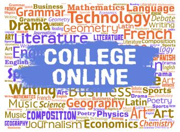 College Online Shows Web Site And Colleges