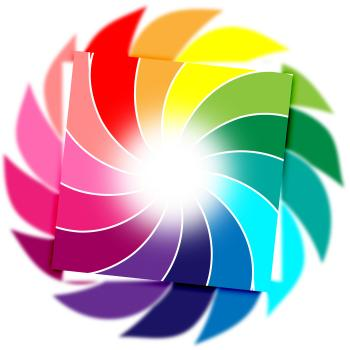 Color Background Means Whirl Whirling And Colourful