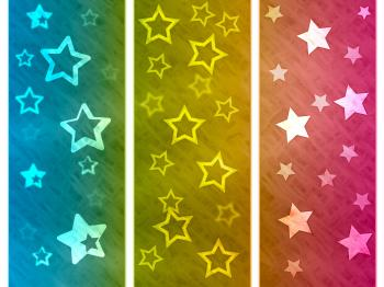 Color Background Shows Star Colourful And Spectrum