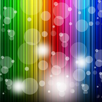 Color Bokeh Shows Colors Multicoloured And Backgrounds
