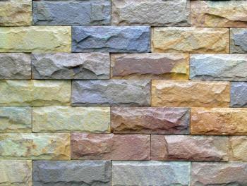 Colored Brick Wall
