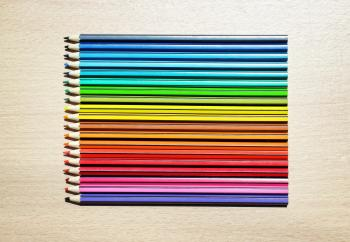 Colored Pencils Aligned