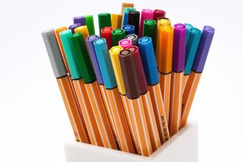 Colored Pens on Case