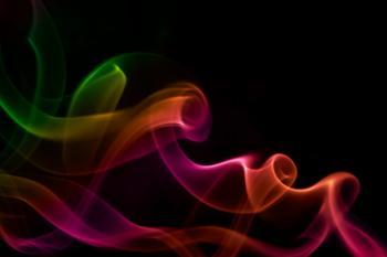 Colored smoke on black