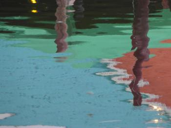 Colorful Abstract Harbor Reflection