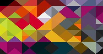Colorful abstract triangle pattern