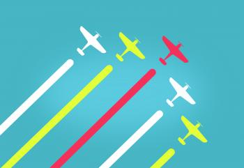 Colorful Aeroplanes in Formation