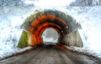 Colorful Concrete Tunnel