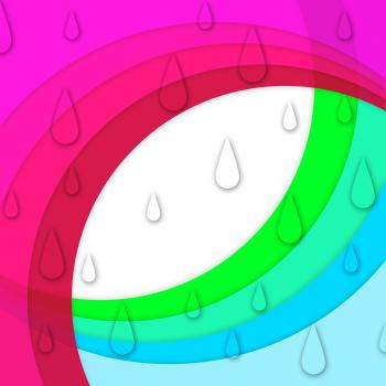 Colorful Curves Background Shows Sloping Lines And Water Drops