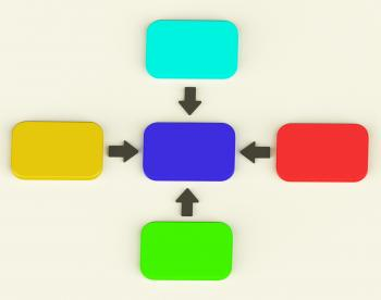 Colorful Diagram With Four Arrows Showing Process Or Illustration