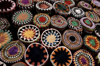 Colorful Egyptian hats