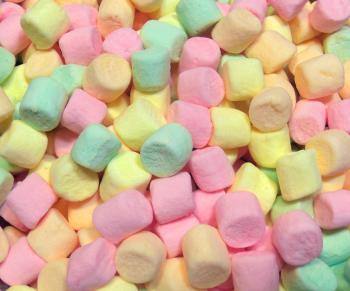 Colorful mini marshmallow texture